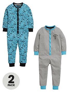 mini-v-by-very-boys-robot-sketch-sleepsuits-2-pack