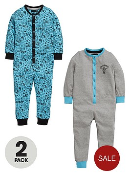 mini-v-by-very-boys-robot-sketch-sleepsuits-2-pack