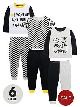 mini-v-by-very-boys-chevronmonster-pyjamas-set-6-piece