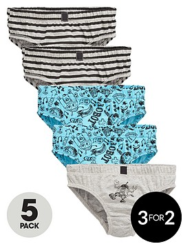 mini-v-by-very-boys-robot-sketch-briefs-5-pack