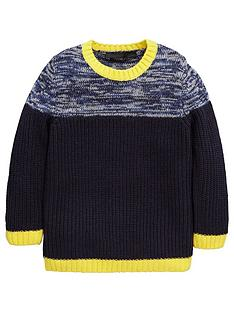 mini-v-by-very-boys-twisted-yarn-panel-knitted-jumper
