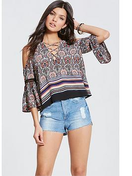 girls-on-film-paisley-cold-shoulder-topnbsp