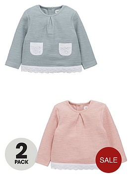 ladybird-baby-girls-sweat-tops-with-broderienbspdetail-2-pack