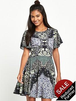 miss-selfridge-sophia-mirror-print-angel-sleeve-dress