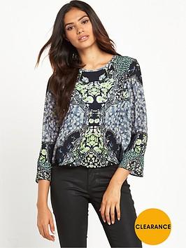 miss-selfridge-sophia-mirror-print-fluted-sleeve-blouse