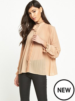 miss-selfridge-pleated-blouse