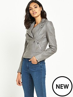 miss-selfridge-grey-pu-biker