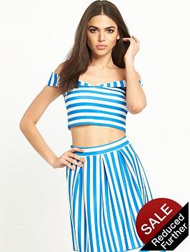 miss-selfridge-petite-stripe-scuba-bardot-top