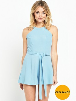 miss-selfridge-90snbspneck-flippy-petite-playsuit-royal-blue