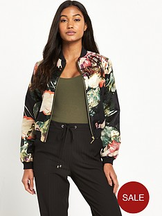 miss-selfridge-jacquard-bomber