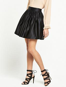 miss-selfridge-satin-dirndl-skirt-black