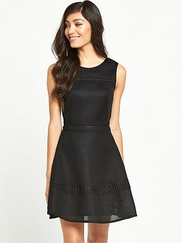 miss-selfridge-miss-selfridge-airtex-bonded-fit-and-flare-dress