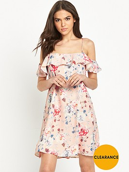 miss-selfridge-cold-shoulder-swing-dress