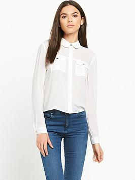 miss-selfridge-crop-double-pocket-shirt