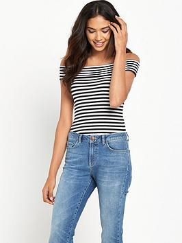 miss-selfridge-stripe-bardot-body