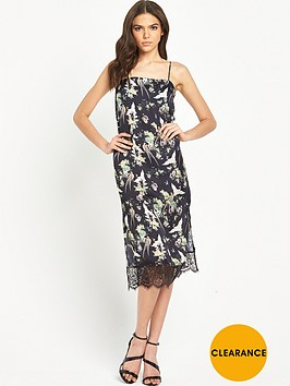 miss-selfridge-bird-print-cami-lace-midi-dress