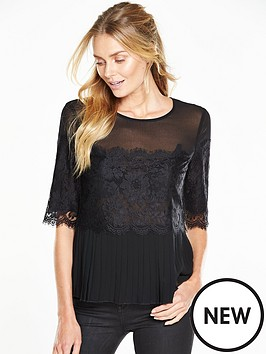 v-by-very-lace-pleated-blouse