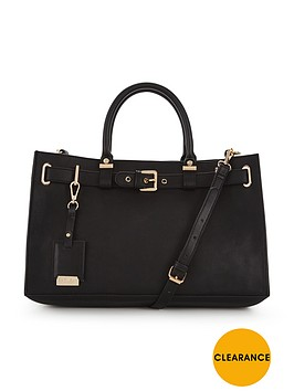 carvela-buckle-detail-tote-bag