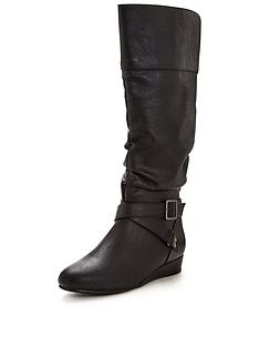 v-by-very-grace-low-wedge-slouch-calf-boots-black
