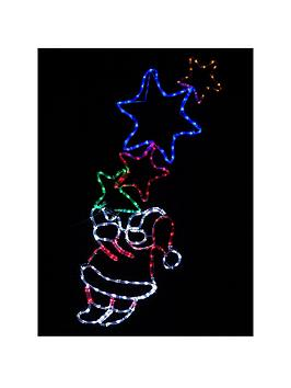flashing-santa-with-stars-rope-light-outdoor-christmas-decoration