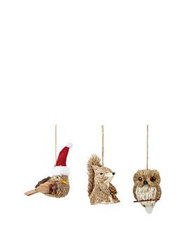 animal-hanging-christmas-decorations-set-of-3