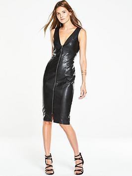 v-by-very-exposed-zip-wet-look-pencil-dress