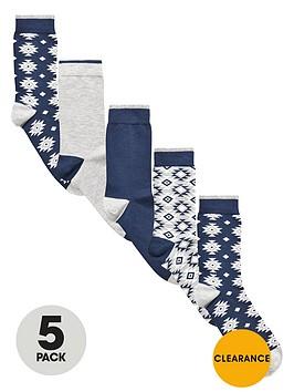 v-by-very-5-pack-aztec-socks