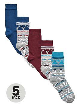 v-by-very-5-pack-christmas-fair-isle-stag-socks