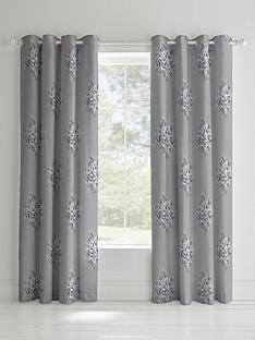 catherine-lansfield-floral-bouquet-lined-eyelet-curtains