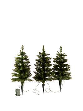 set-of-3-prelit-walkway-christmas-trees