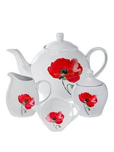 sabichi-poppy-collection-ndash-tea-set-with-tea-bag-holder