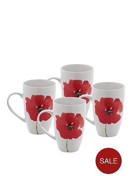 sabichi-poppy-collection-ndash-set-of-4-mugs