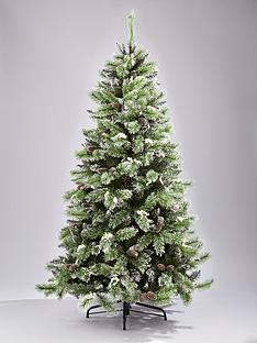 6ft-pvc-flocked-tree-with-white-berries