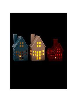 porcelain-led-house-christmas-decorations-set-of-3