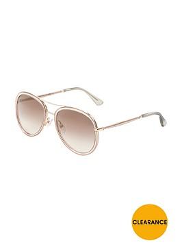 jimmy-choo-aviator-sunglasses-gold