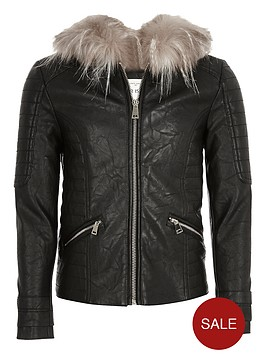 river-island-girlsnbspfaux-fur-hooded-biker-jacket