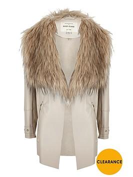 river-island-girls-waterfall-punbspfaux-fur-collar-jacket