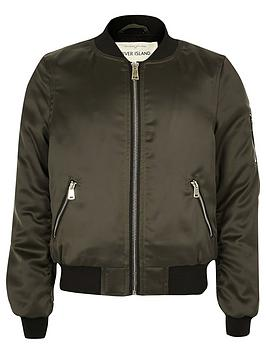 river-island-girls-khaki-satin-bomber-jacket