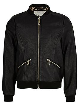 river-island-girls-black-pu-bomber-jacket