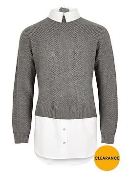 river-island-girls-grey-layered-shirt-jumper