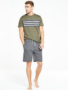 v-by-very-short-sleeve-chest-stripe-pj-set