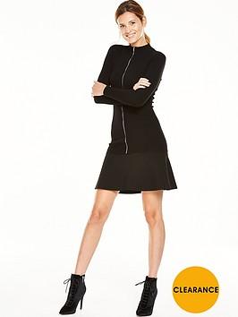 v-by-very-turtle-neck-zip-up-skater-dress