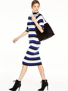 v-by-very-stripe-turtle-neck-bodycon-midi-dress