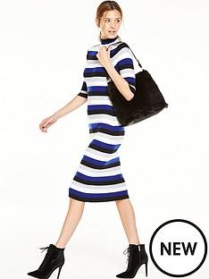 v-by-very-stripe-turtle-neck-bodycon-midi-dress