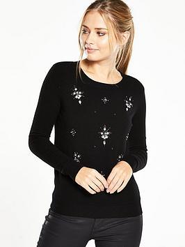 v-by-very-embellished-jumper