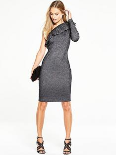 v-by-very-knitted-metallicnbspbodyconnbspdress-with-one-shoulder-frill-detail