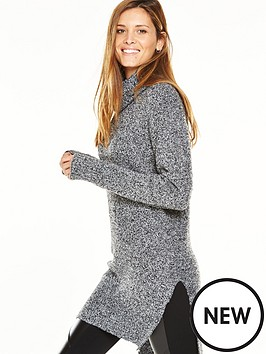 v-by-very-chunky-bouclenbspknit-tunic-jumper-with-roll-necknbsp