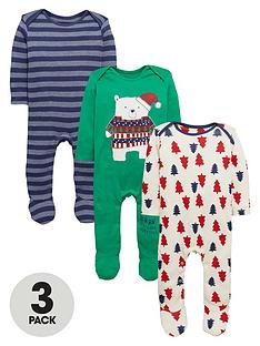 ladybird-baby-boys-christmas-sleepsuitsnbsp3-pack