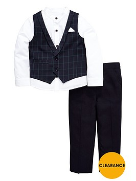 mini-v-by-very-boys-tartan-occasion-set-with-shirt-waistcoat-and-trousers-3-piece
