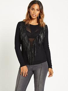 rochelle-humes-pu-fringe-front-jumpernbsp